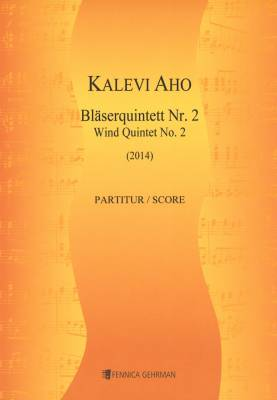 Wind Quintet No. 2 / Puhallinkvintetto No. 2 (2014) : score