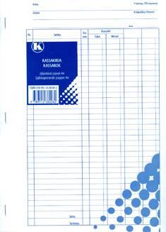 Kassakirja A4 (2x50 lehteä, jäljentävä paperi)
