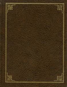 Vieraskirja (170x220 mm, tummanruskea, 288 sivua)