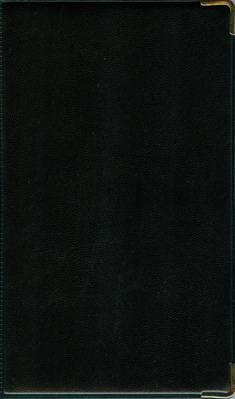 Puhelinmuistio (10 kpl/pkt, 110x176, metallikulmat, musta)