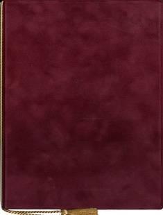 Adressikansi (A4, viininpunainen, 4 lehteä)