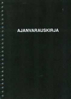 Ajanvarauskirja (A5, mustak. kierreselkä, 112 sivua)