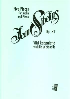 Five Pieces for Violin & Piano op 81