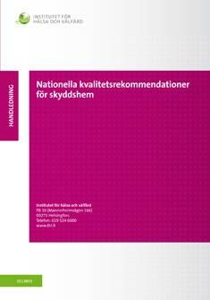 Nationella kvalitetsrekommendationer för skyddshem