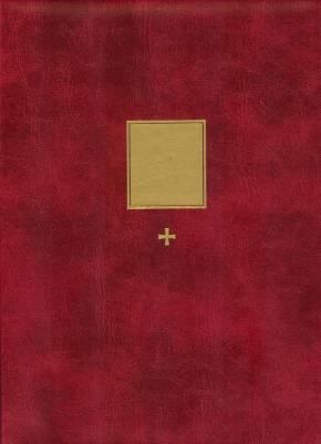 Pieni kirkkokansio punainen A5 (rukouksilla, 6020KK)
