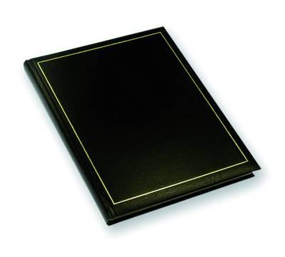 Vieraskirja (210x267 mm, musta pehmeä mundior-kansi, kultasyrjä, 288 s.)