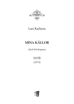 Mina källor : mixed choir