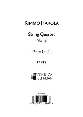 String Quartet No. 4 op. 95 - Parts