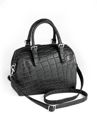 Garda-käsilaukku krokokuvioitua nahkaa