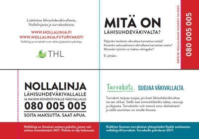 Nollalinja ja turvakodit - käyntikortti (suomi, 100 kpl)