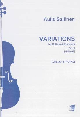 Variations for Cello and Orchestra op. 5 : Reduction cello, piano