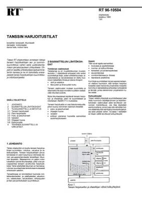 RT 96-10504, Tanssin harjoitustilat