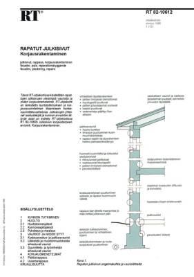 RT 82-10612, Rapatut julkisivut. Korjausrakentaminen