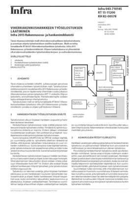 RT 15-11200, Viherrakennushankkeen työselostuksen laatiminen. Infra 2015 Rakennusosa- ja hankenimikkeistö. (Sisältää lomakkeen RT 80351)
