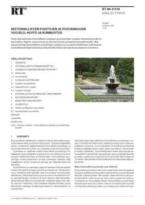 RT 99-11119, Historiallisten puistojen ja puutarhojen suojelu, hoito ja kunnostus
