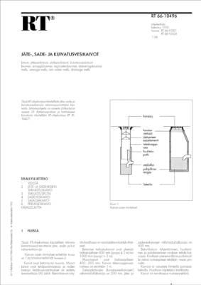RT 66-10496, Jäte-, sade- ja kuivatusvesikaivot