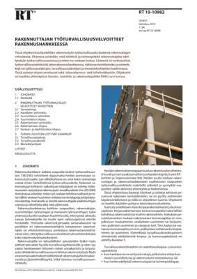 RT 10-10982, Rakennuttajan työturvallisuusvelvoitteet rakennushankkeessa