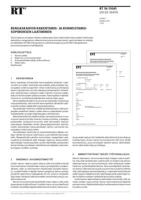 RT 16-11041, Rengaskaivon rakentamis- ja kunnostamissopimuksen laatiminen