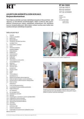RT 84-11093, Asuntojen märkätilojen korjaus. Korjausrakentaminen