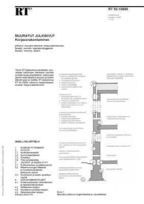 RT 82-10608, Muuratut julkisivut. Korjausrakentaminen