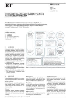 RT 91-10970, Puhtaudenhallinnan huomioonottaminen rakennussuunnittelussa