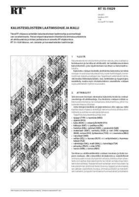 RT 15-11029, Kalusteselosteen laatimisohje ja malli