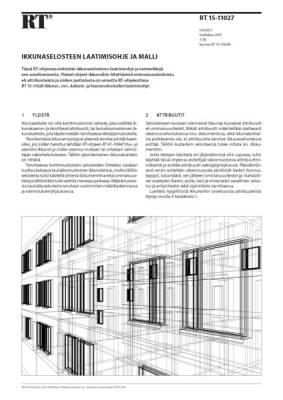 RT 15-11027, Ikkunaselosteen laatimisohje ja malli