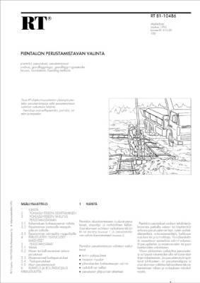 RT 81-10486, Pientalon perustamistavan valinta