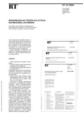 RT 16-10696, Rakennusalan töiden kuluttajasopimuksen laatiminen