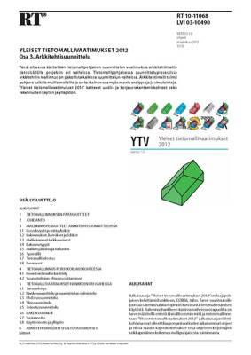 RT 10-11068, Yleiset tietomallivaatimukset 2012. Osa 3. Arkkitehtisuunnittelu (Versio 1.0, 2012)