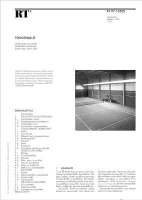 RT 97-10505, Tennishallit