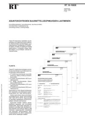RT 10-10828, Asuntokohteiden suunnittelusopimuksien laatiminen