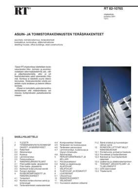 RT 82-10765, Asuin- ja toimistorakennusten teräsrakenteet