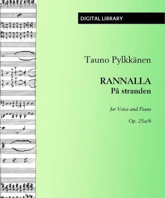 Rannalla / På stranden op. 25a/6 - Voice/piano (PDF)