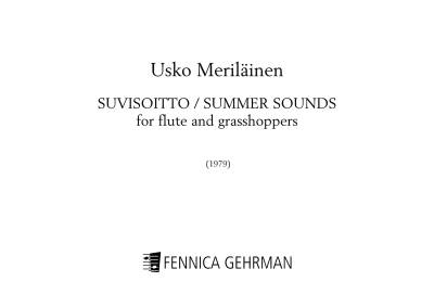 Summersounds for flute and grasshoppers - Flute & tape (mp3 format)