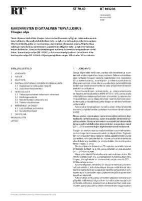 RT 103206, Rakennusten digitaalinen turvallisuus. Tilaajan ohje