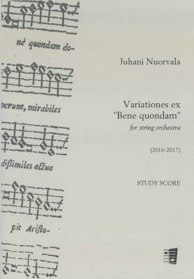 "Variations ex ""Bene quondam"" for string orchestra - Study score"