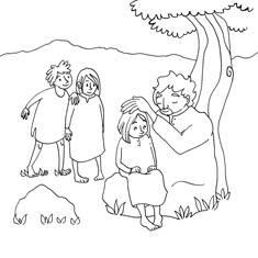 Jeesus siunaa lapsia -värityskuvat (20 kpl)