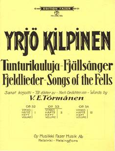 Tunturilauluja 2 / Fjell Songs 2 op 53